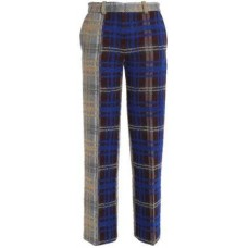 Acne Studios Paneled Checked Wool-Blend Straight-Leg Pants 2018 new style ORKQZOR