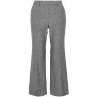 Brunello Cucinelli Cropped Wool And Linen-Blend Canvas Flared Pants 2018 new style RPKZBHO
