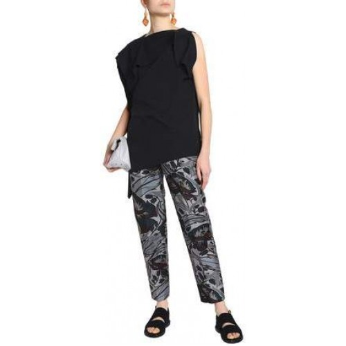 Marni Floral-Print Cotton And Silk-Blend Tapered Pants 2018 new style RFSFKFT