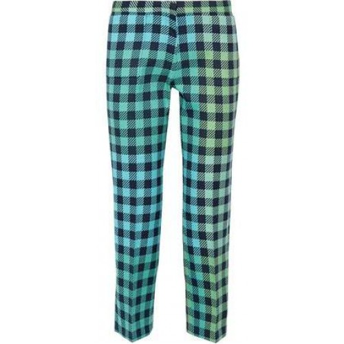 Victoria Beckham Victoria Cropped Gingham Wool-Blend Straight-Leg Pants 2018 new style IEFXWSF
