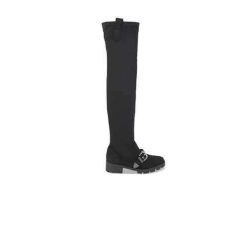 Truffle Collection Women Black Solid Heeled Boots 2105163 ADUSYTV
