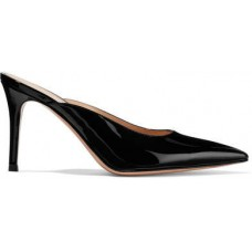 Gianvito Rossi 85 Patent-leather Mules - Black 2018 new style TPUXBGM