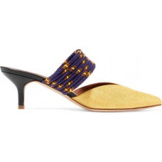 Malone Souliers Maisie Cord-trimmed Raffia Mules - Gold 2018 new style YLHCKJB