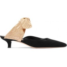 The Row Coco Suede And Moire Mules - Black 2018 new style ELFRMSN