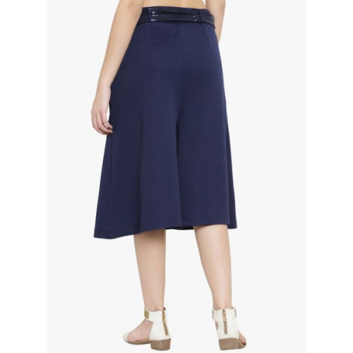 Just Wow Navy Blue Solid Cullotes 6690079 WGVYQOU