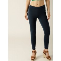 United Colors of Benetton Navy Blue Solid Leggings 6835758 HHQHSWK