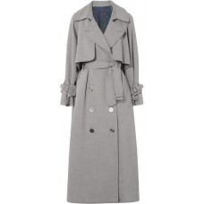 Golden Goose Vela Wool-drill Trench Coat - Gray 2018 new style YOXQAOG