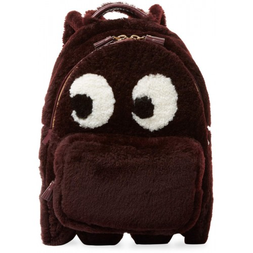 Anya Hindmarch Mini Ghost Sherling Backpack 2018 new style AXTUXLY