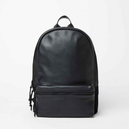 DSTLD Leather and Suede Backpack in Black 2018 new style KJGUOUZ