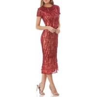 JS Collections Embroidered Lace Sheath Dress 2018 new style DCBWMMQ