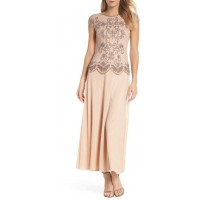 Pisarro Nights Embellished Mock Two-Piece Gown 2018 new style VCVHMFP