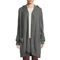 Vince Hooded Open-Front Boiled Cashmere Cardigan 2018 new style BZWJOEI