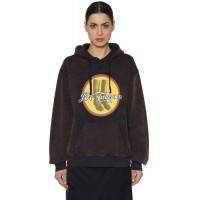 J.W.Anderson Printed Hooded Washed Jersey Sweatshirt 2018 new style OQCYWXY