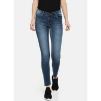 HRX by Hrithik Roshan Women Blue Skinny Fit Mid-Rise Clean Look Stretchable Jeans 7008890 OTGGPGH