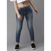 Moda Rapido Women Blue Slim Fit Mid-Rise Clean Look Stretchable Jeans 6668274 UXIRJFI